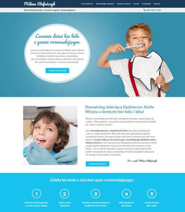 przykładowa strona stworzona w kreatorze Webwave