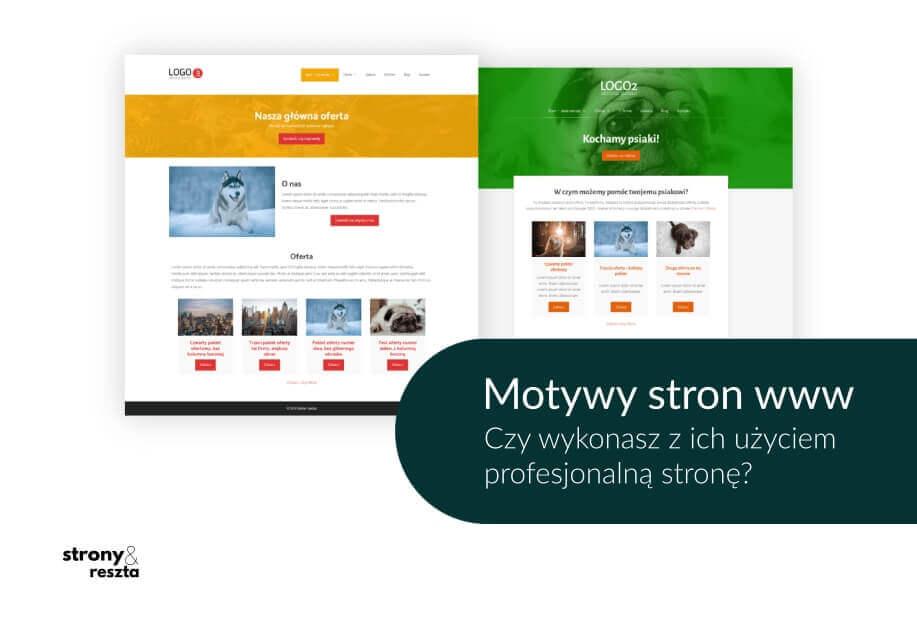 graficzne motywy stron internetowych